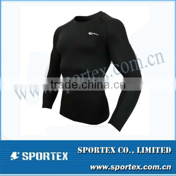 Sport compression shirt / long sleeve tight shirt / men's compression sportswear for men