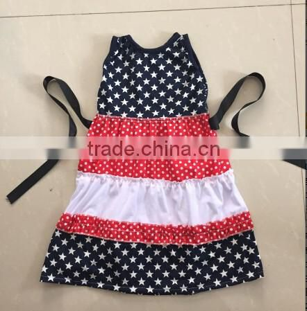 7c672a87a103 New latest kids cotton frocks designs girls July 4th dress ruffle ...