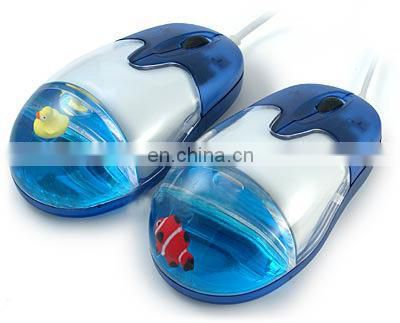 Floater mouse customized logo,OEM/computer wired liquid mouse, water filled mouse