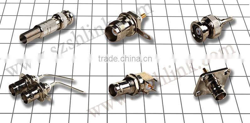 China supply with the best price for female coaxial cable BNC connector with flange, RF Connector