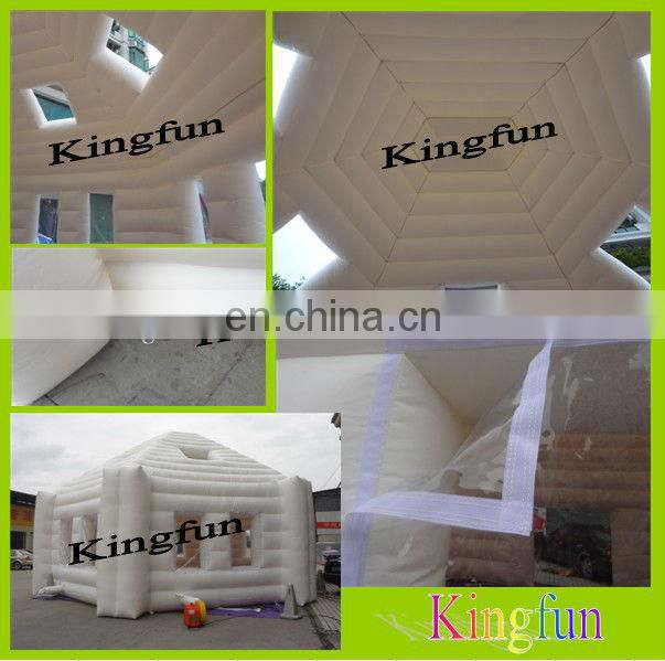 Portable inflatable wall for tradeshow