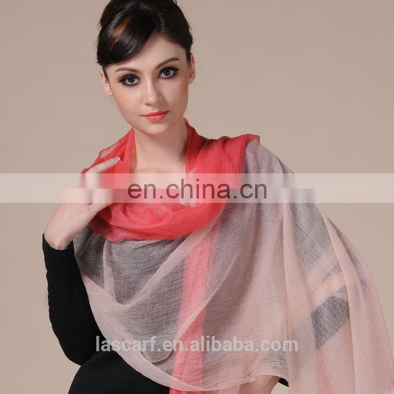 rainbow color hand painted cashmere muffler