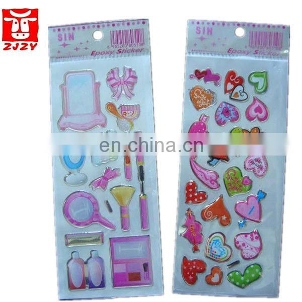 hot sale custom epoxy stickers