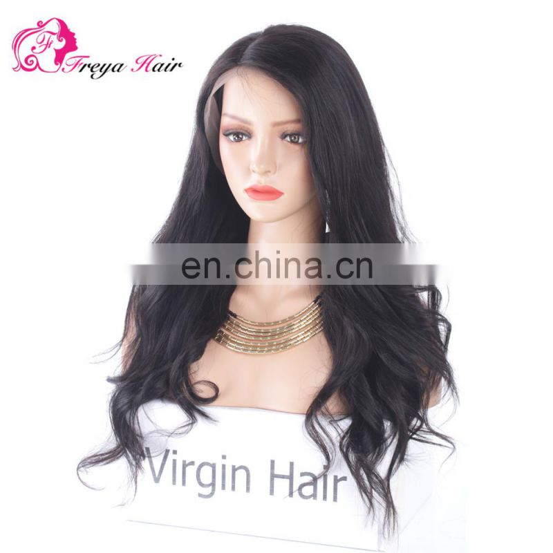 Hot Selling Wholesale Natural Wave Aliexpress 8a Grade Virgin Brazilian Human Hair Lace Front Wig With Pre Plucked Hair Line