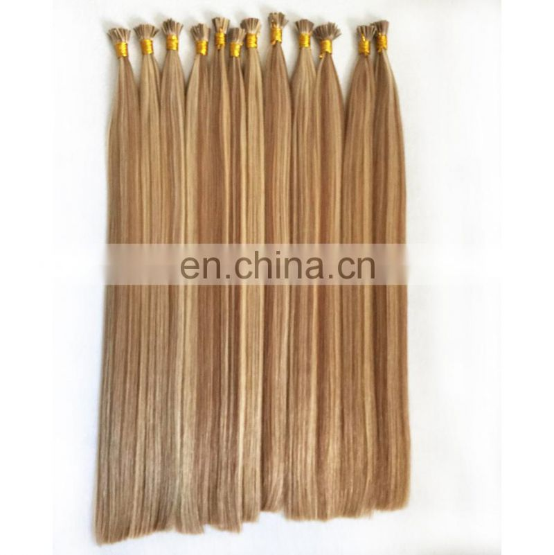100% cuticle remy human russian keratin pre bonded 2g strands i tip hair extensions