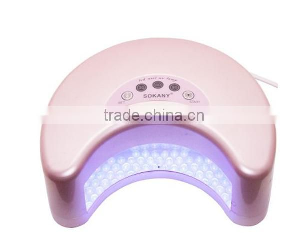 12W LED LAMP NAIL GEL CURE LAMP RICH COLOR WITH 30S 60S TIMER NAIL BEAUTY NAIL ART+NAIL FAN,