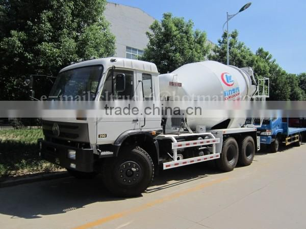 290HP 6*4 DONGFENG 9m3 cement mixer Truck