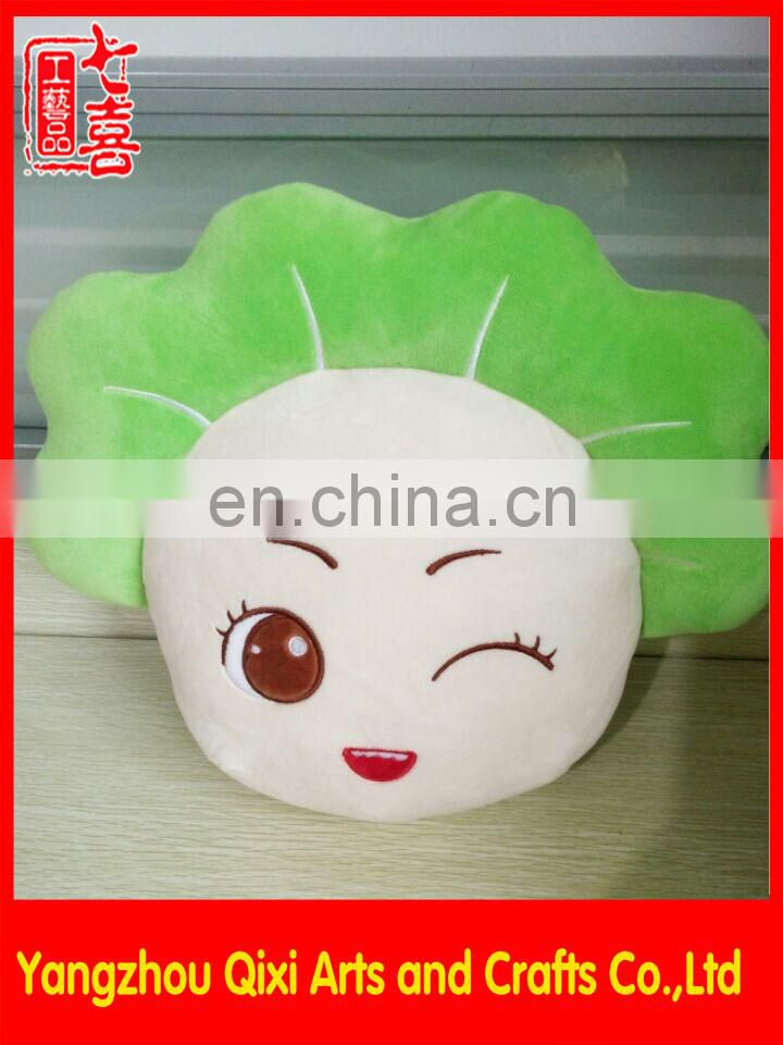 Cute winter hand warmer plush vegetable shaped hot water bag cover electric rechargeable hot water bag