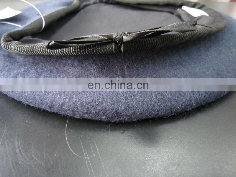 wool military beret with embroidery