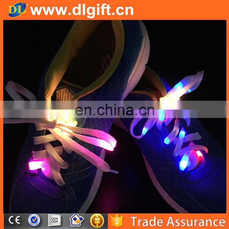 Germany high quality led light reflective shoelaces for dance