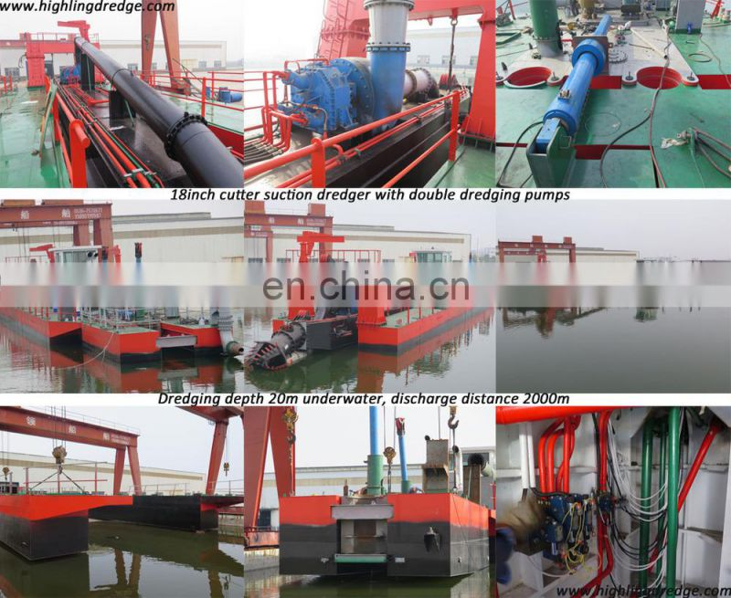 600/450mm Hydraulic river sand dredger for sand dredging