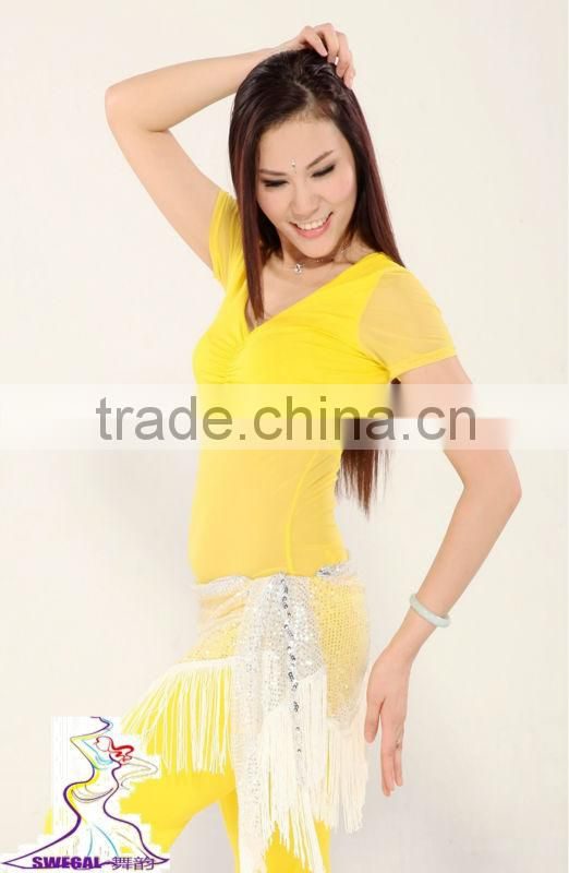 SWEGAL SGBDB13042 7colors yellow sexy fashion belly dance tops