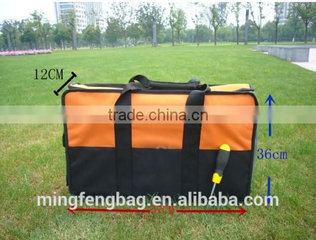 high quality custom folding polyester tool bag for engineer ,networking and electrician