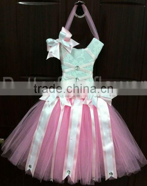2014 Baby boutique wholesale Tutu bow holder Soft chiffon pettiskirt Party dress Tutus dresses
