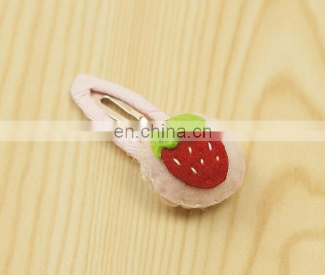 Felt Flower Baby Snap Clip Strawberry Hair Clip Girl Barrettes Festival Fashion