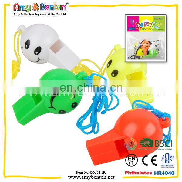Promotion Cheering Noise Make Whistle Cheap Small Plastic Toys Party Horn Whistle