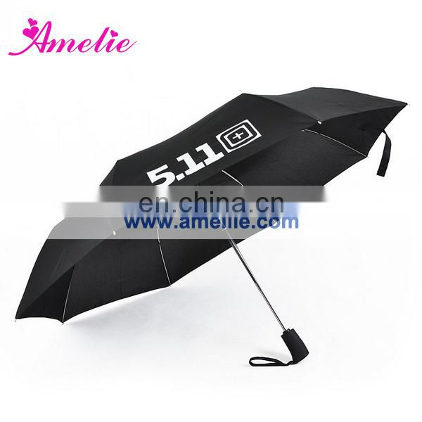 A0469 Custom logo printing 3 folding umbrella