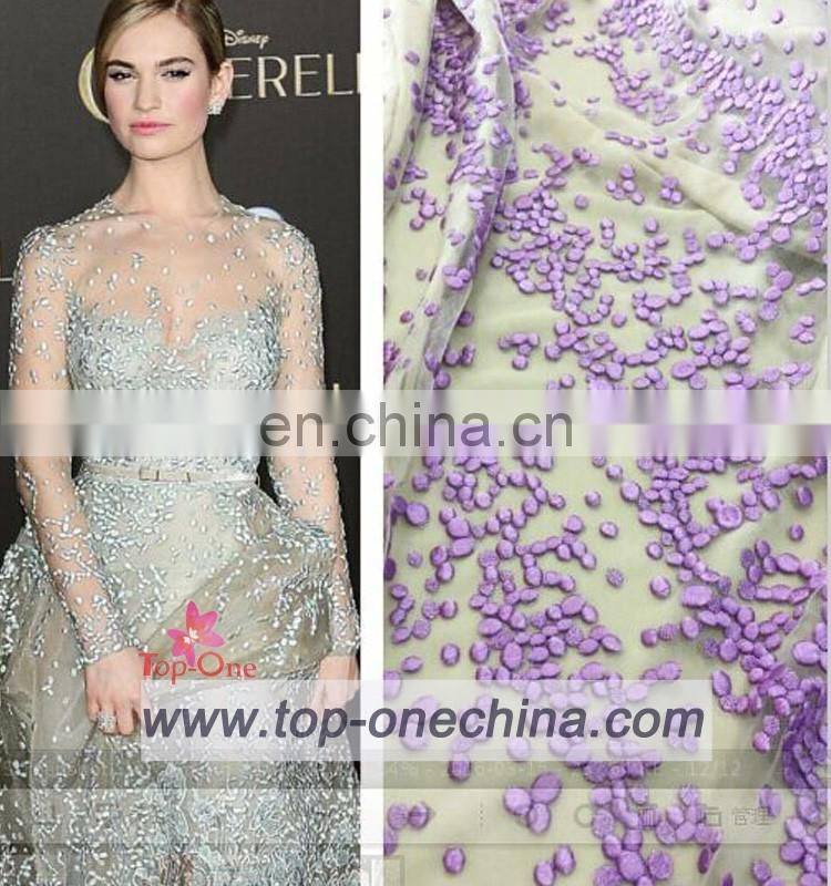 2016 white bridal embroidered tulle lace fabric,tulle lace ,embroidered fabric for wedding party