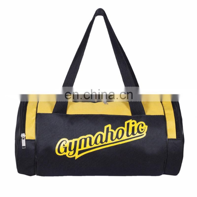 Personalized U-zip Opening Sports Duffld Gym Bag with shoe compartment