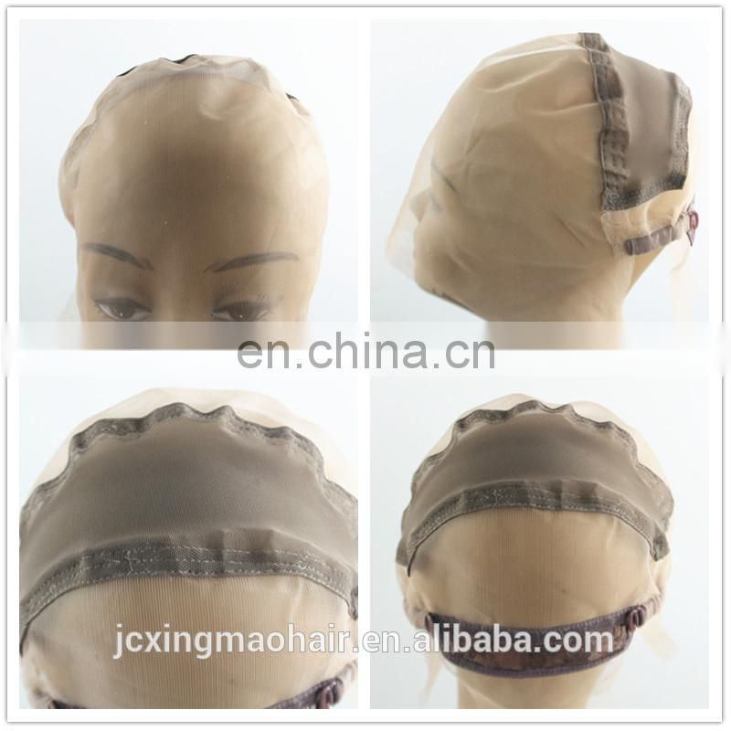 Factory wholesale black color adjustable weaving cap with plastic hair cap