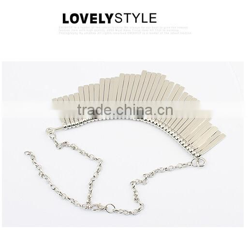 Antique Gold Silver Plated Gun Black Plated Choker Collar Vintage Statement Necklace Women Fashion Necklaces for Women 2014