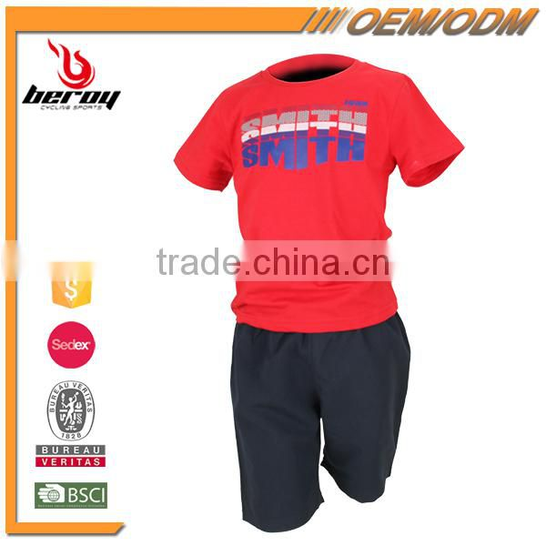 100% Cotton Casual Short Sleeve Children T Shirt for Boys Girls