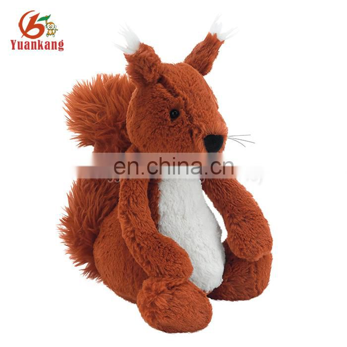 cute design soft toy squirrel plush animal