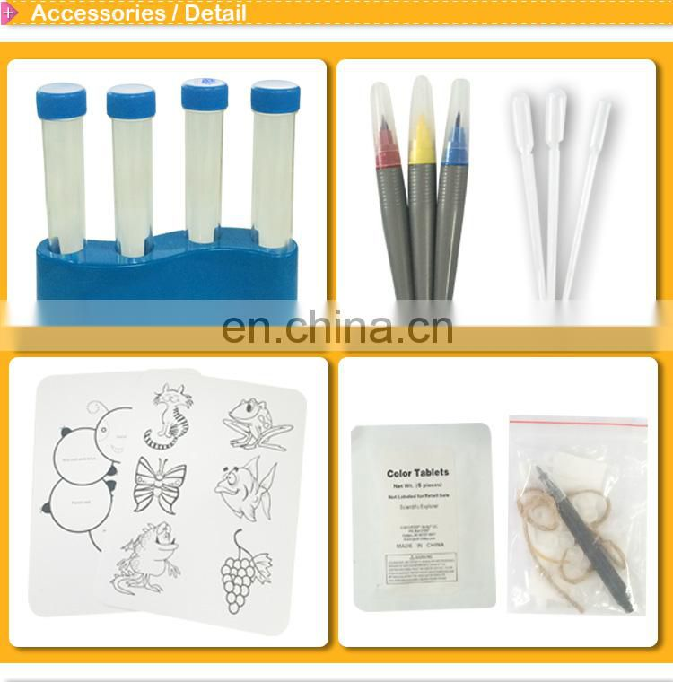 DIY science craft kit for children COLOR MYSTERIES KIT