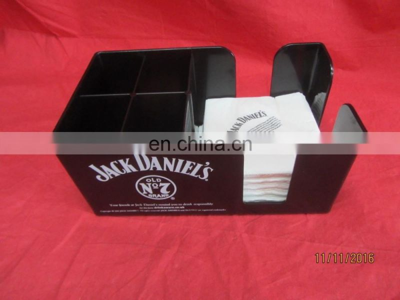 JACK DANIEL'S OLD NO7 BLACK PLASTIC BAR CADDY PUB BAR MANCAVE