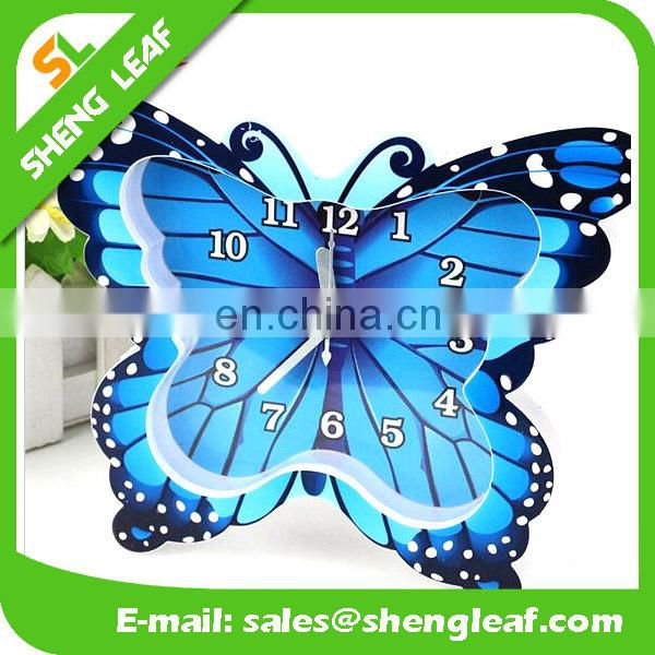 Three-dimensional digital butterfly table clock