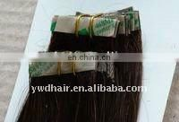 top quality brazilian/indian/chinese remy human hair pu tape skin weft