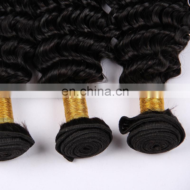 cuticle aligned virgin hair double drawn deep wave hair products private label express ali