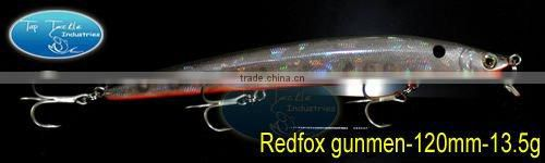 fishing lure Redfox Gunmen 120mm 13.5g minnow