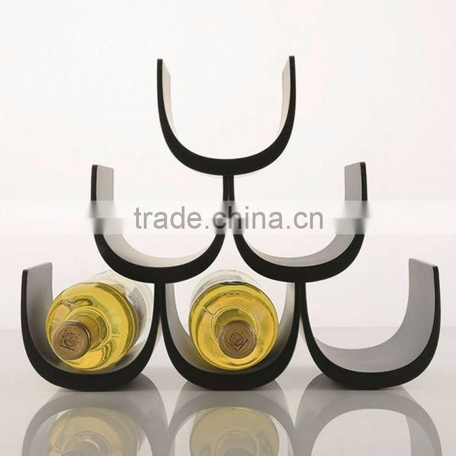 golden coloure fancy wine bottle stand