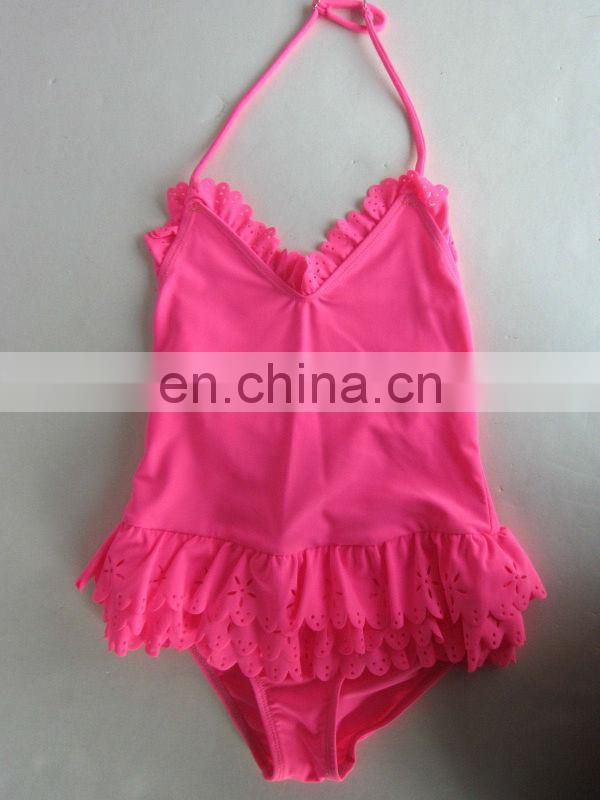 baby infant Sweet one piece pink swimsuit