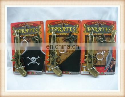 Kids Plastic Pirate play toys eyepatch sword pirate gun pirates toy