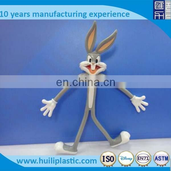 Funny metal wire soft pvc bendable figure ,Custom plastic bendable toy figures ,Rabbity shape plastic bendable toy wholesale
