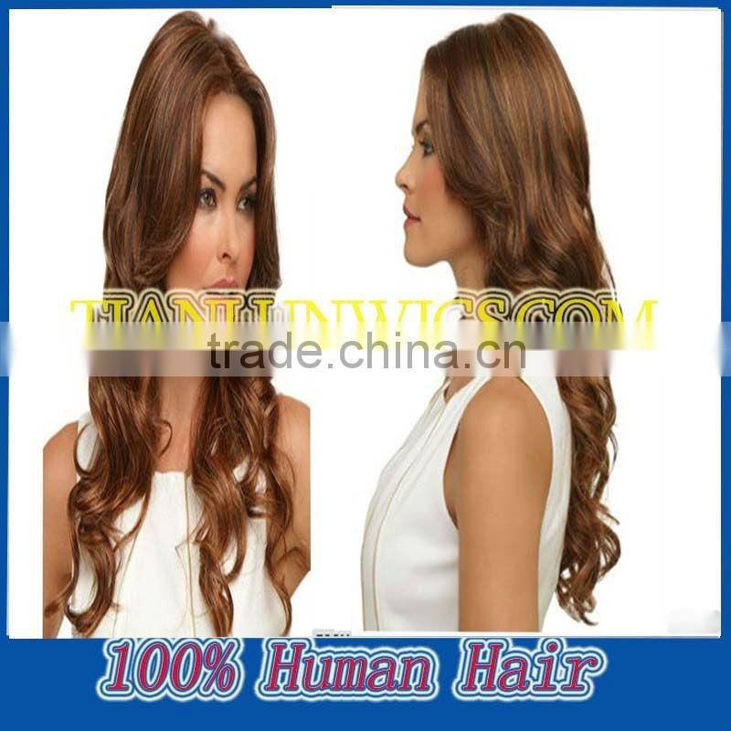 5a top quality cheap price,20inch,body wave, Brown colour,full lace wigs