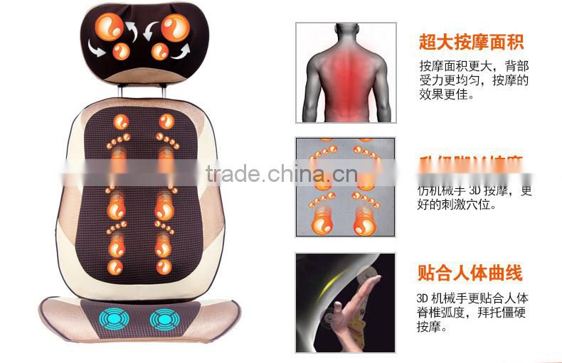 Eco-friendly and healthy designed car massage cushion with heating