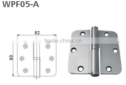 Stainless steel lift off with washer or ball bearing door hinge