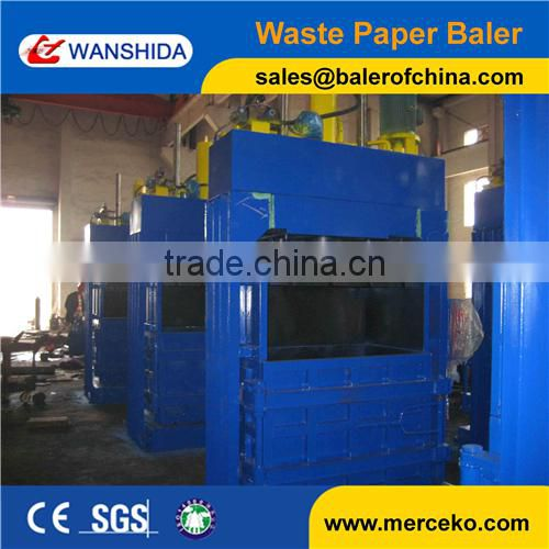 overseas After-sales Service Provided non-metal hydraulic flattening baler with manual tie