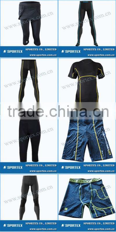 Comfortable body cut Sportex spandex compression shirt, compression apparel, running apparel OEM#OM1305