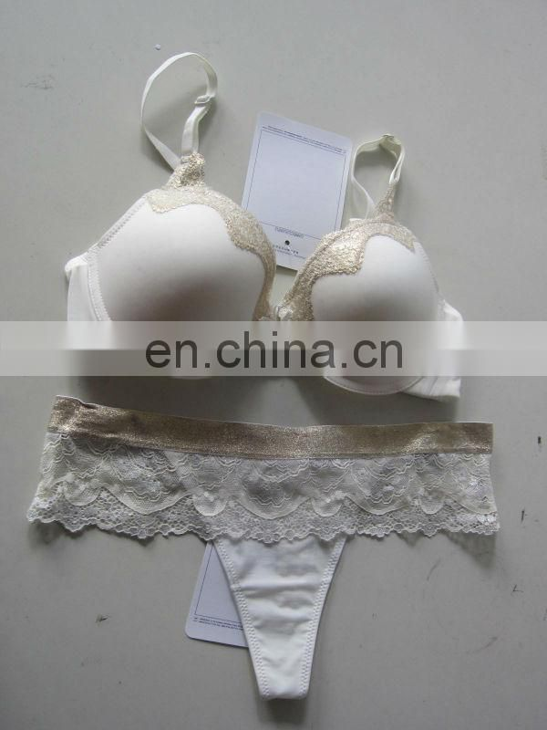 new arrival brassiere and G-string sets golden noble gilr sexy bra Trade assurance supplier