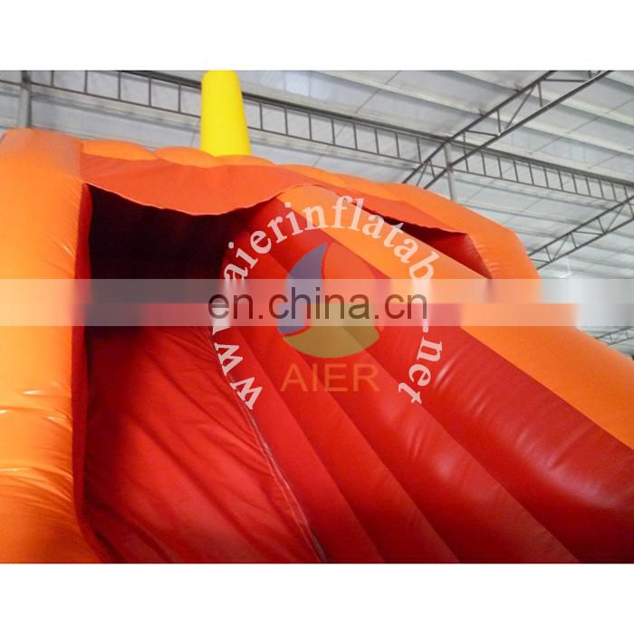 Customized giant inflatable dry slide / pirate ship red inflatable bouncer slide / inflatable stair slide toys