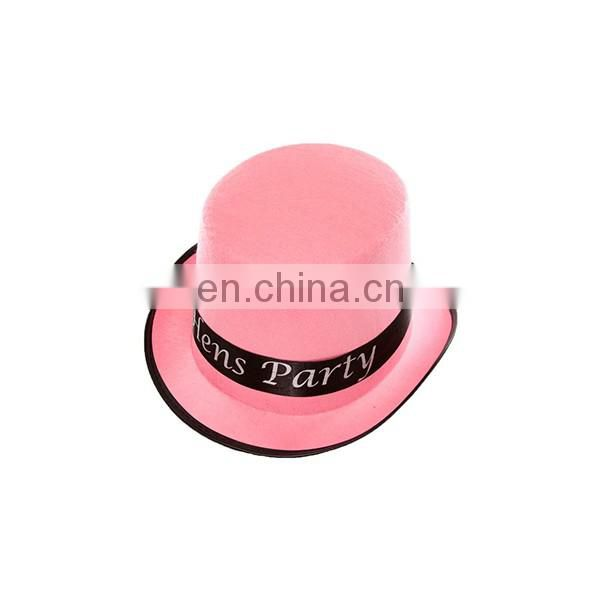 Hen Party Leather Cowboy Hat Slash Top Hat For Sale