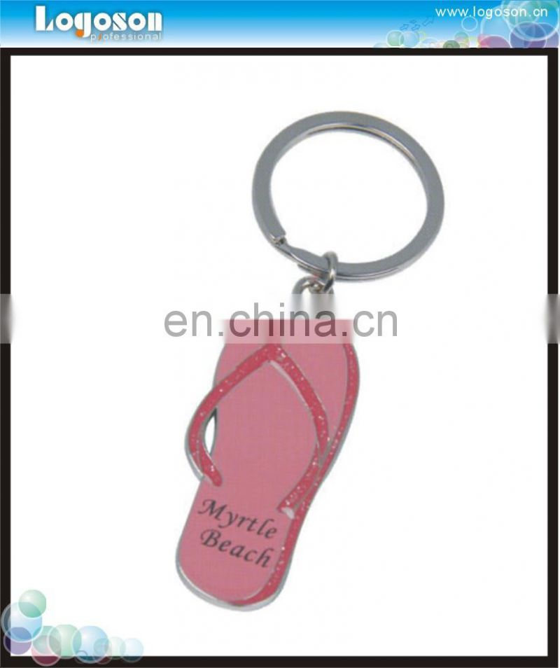 Promotional Custom Logo Diamond Painting Cheap Flip Flop Slipper Personalized Keyring