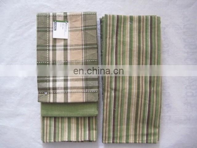 100% cotton ring spinning custom kitchen towel sets