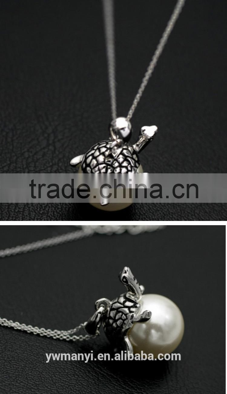 2016 New Fashion Hot Sale Retro Style Export trade jewelry European wholesale tortoise pave pearl 2016 trendy necklace N0123