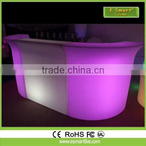 Indoor Rechargeable Colorful LED Illuminated Modern Bar Counter