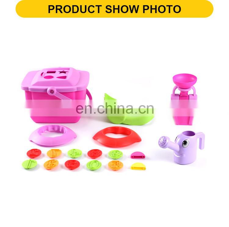 Plastic cute summer play sand toys 18pcs